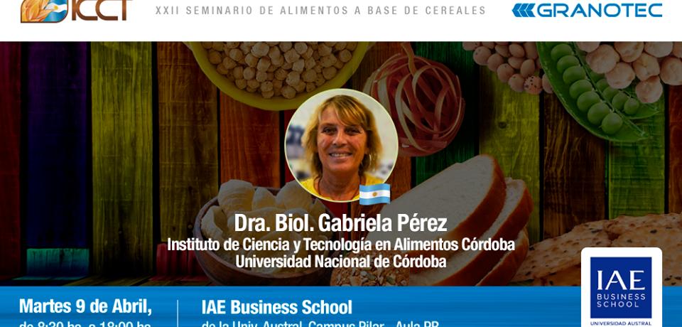 La Dra. Gabriela Pérez brindó un seminario sobre ingredientes y procesos tecnológicos en panificación