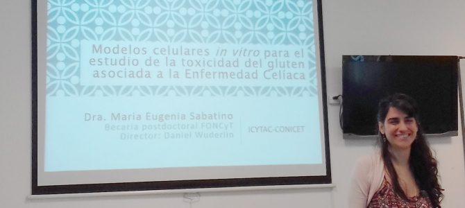 Seminario ICYTAC «Modelos celulares in vitro para el estudio de la toxicidad del gluten asociada a la Enfermedad Celíaca».