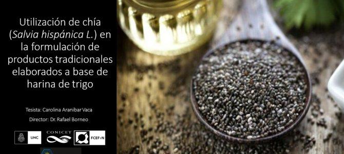 Tesis Carolina Araníbar: Utilización  de chía en la formulacion de productos de trigo.